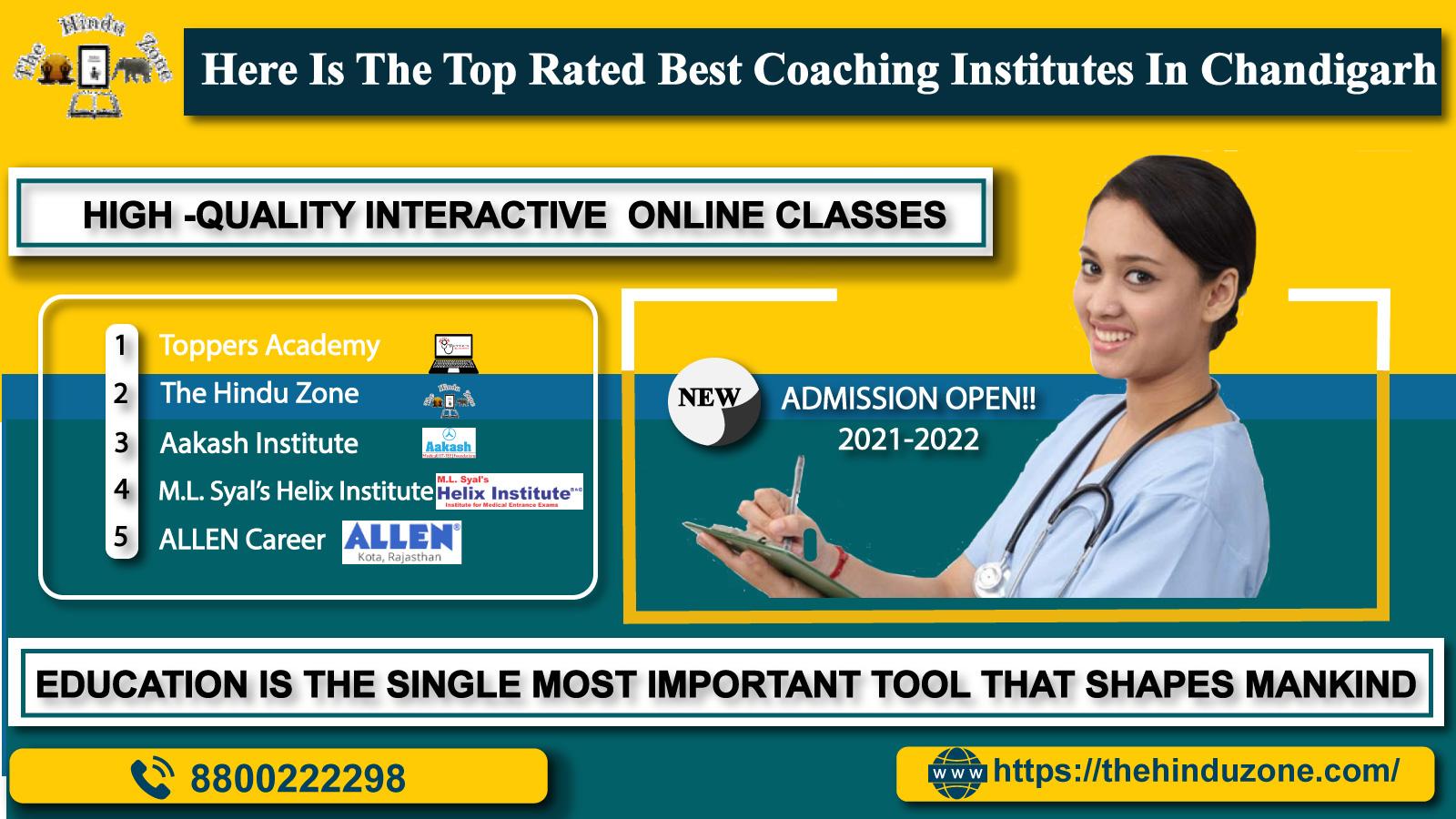 Top 10 NEET Coaching Institutes  In Chandigarh