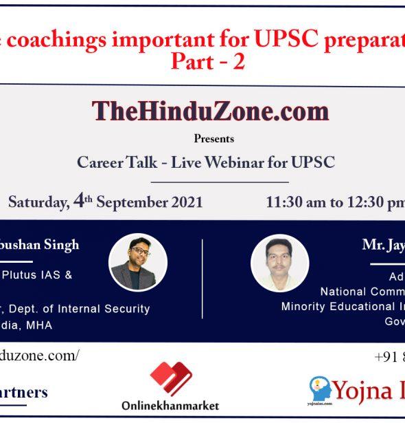 Career Talk Live Webinar For UPSC Part-2